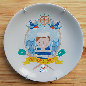 Personalised Sailor Plate