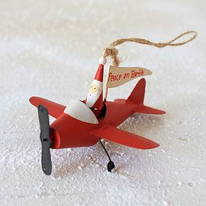 'Father Christmas Airplane' Decoration