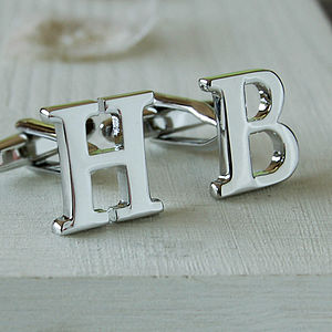 Initial Cufflinks - birthday gifts for him