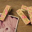 Pack Of Six Magnetic Rose Pegs