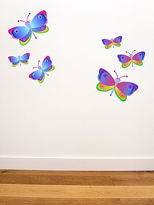 Set Of Butterfly Wall Stickers
