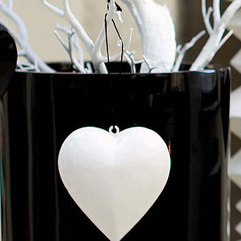 White Gloss Metal Heart