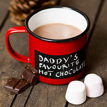 Personalised Blackboard Enamel Mug