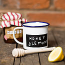 Personalised Enamel Blackboard Mug