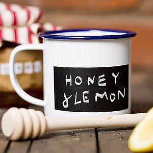 Personalised Enamel Blackboard Mug - autumn evenings