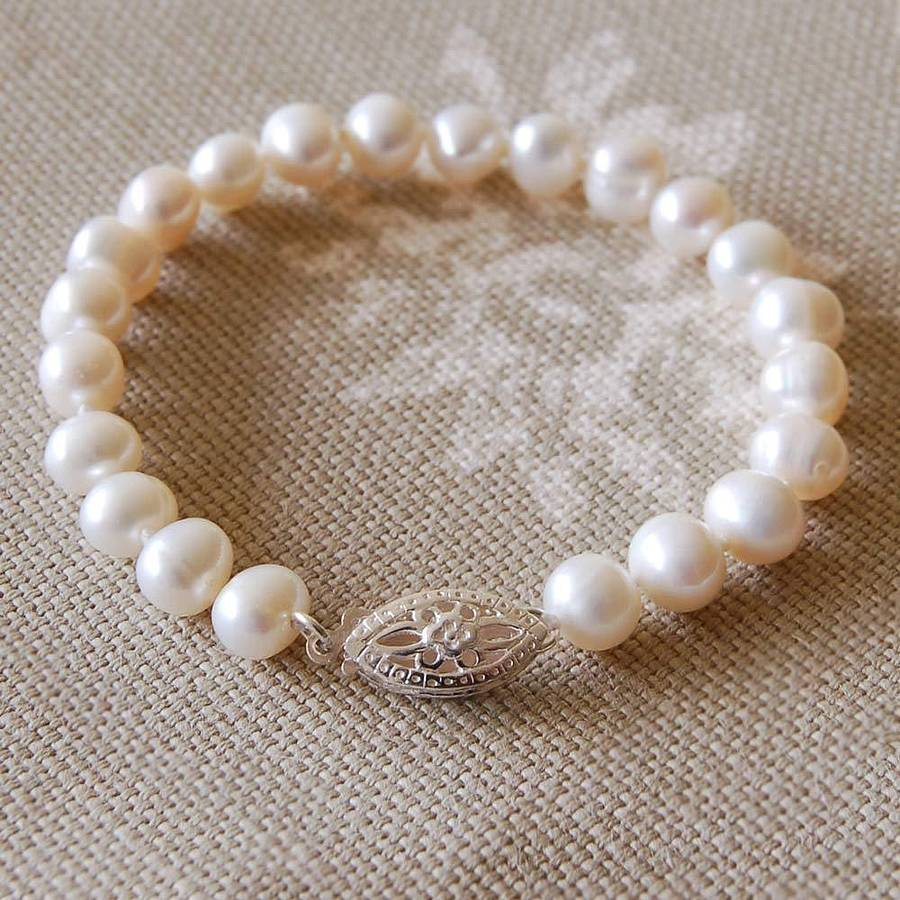 47624d25b5d2e2 vintage style pearl bracelet by highland angel | notonthehighstreet.com