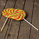 Giant Swirly Christmas Lollipops