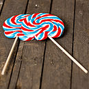 Giant British Swirly Lollipops