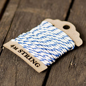 Navy Baker's Twine Lasercut Bobbin - winter sale