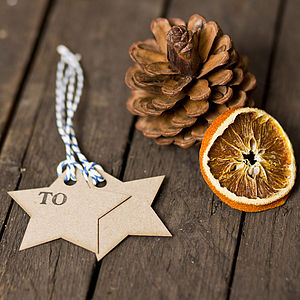 Pack Of Recycled Star Shaped Gift Tags - ribbon & wrap