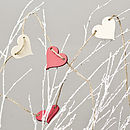 Farrow And Ball Hand Painted Heart Garland