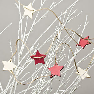 Farrow And Ball Hand Painted Star Garland - outdoor decorations