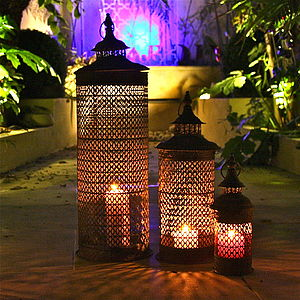 Set Of Three Angkor Lanterns - lighting