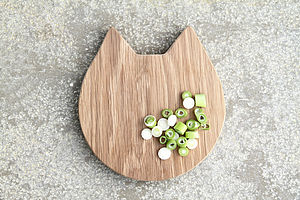 Cat Wooden Oak Chopping/Serving Board - chopping boards