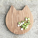 Cat Wooden Oak Chopping/Serving Board