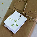 Mistletoe Christmas Gift Tags