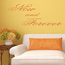 'Now And Forever' Wall Art Quote - Orange