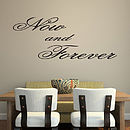 'Now And Forever' Wall Art Quote - Black