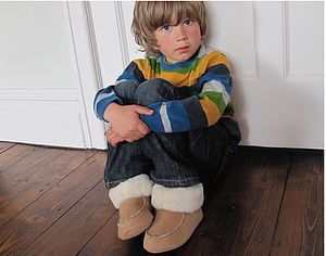 Childrens Sheepskin Slippers - clothing