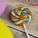 Rainbow Swirly Lollipop