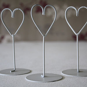 Set Of Eight White Heart Name Place Holders - occasional supplies