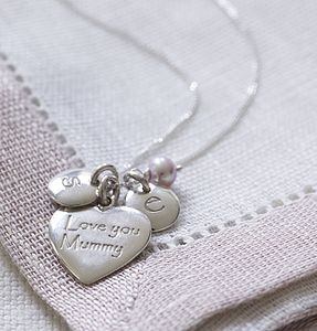 Personalised 'Love You Mummy' Heart Necklace - necklaces & pendants