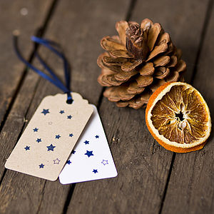 Star Gift Tags - ribbon & wrap