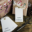 Pack Of 10 Christmas Gift Tags