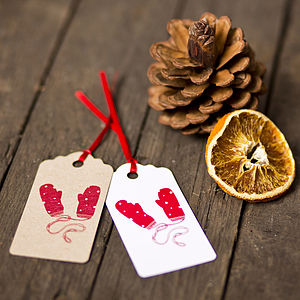 Dotty Mittens Gift Tags