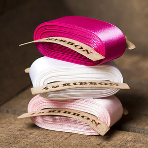 Pink Satin Ribbon - cards & wrap