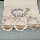 Freshwater Pearl Bracelet And Silver Clasp