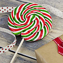 Giant Swirly Red And Green Lollipops
