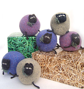 Handmade Wool Sheep - toys & games