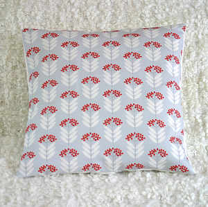 Elderberry Pattern Print Cushion Cover