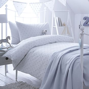 Dotty Blue Organic Cotton Duvet Cover