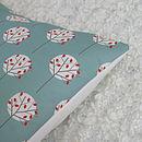 Mini Tree Cushion Cover Sea Green square 40cm x 40cm