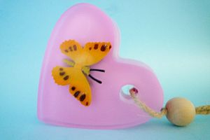 Handmade Heart Butterfly Soap - bath & body