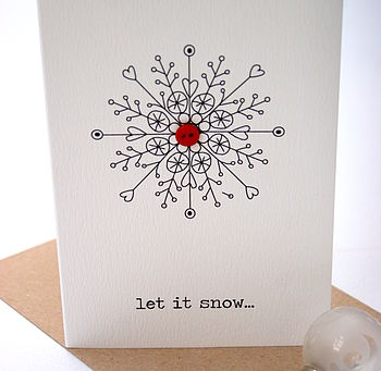 'Let It Snow..' Christmas Button Card