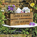 Personalised Wedding Gift Crate