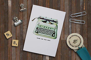 Typewriter 'Thank You Very Much' Card