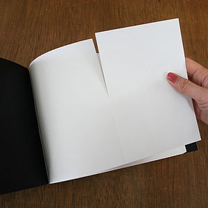 Eco Sketchbook With Full And Half Pages - winter sale