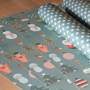 Mixed Christmas Wrapping Paper Pack - wrapping