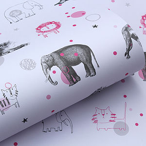 Circus Animal Wrapping Paper Pack - gift wrap sets