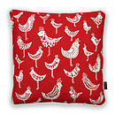 Birds Cushion Cover In Red