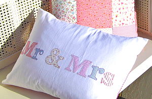 Weddings 'Mr And Mrs' Cushion - patterned cushions