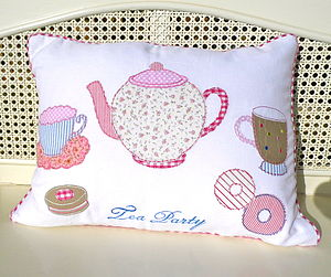 'Tea Party' Cushion - cushions