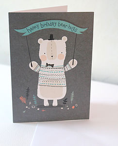 Bear Hugs Birthday Card - birthday cards