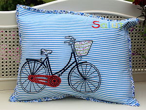 'Salut' Bike Cushion - children's cushions