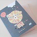 Lion And Balloon Birthday Card