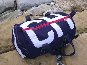 Personalised Navy Blue Canvas Kit Bags - holdalls & weekend bags